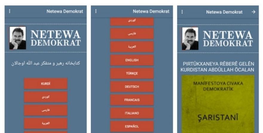 Pirtûkên Ocalan bi 9 zimanan ji Google Play dikare bên peydakirin