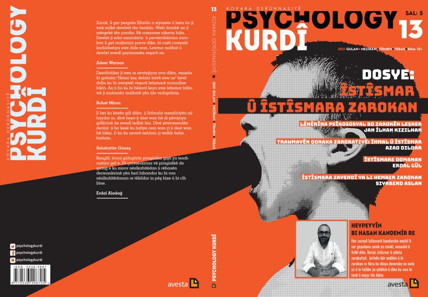 "Hejmara 13an ya Kovara Derûnnasiyê ""Psychology Kurdî"" derket!,<br /> <b>Notice</b>:  Undefined index: keywords in <b>/www/htdocs/w00ecc9d/templates_c/fe809aeec7c1f954ee97e126fc3a3ba63b82ddb6.file.wesan.tpl.php</b> on line <b>40</b><br />"