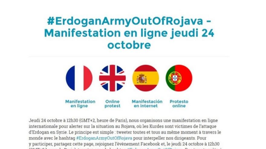 Tevgera çep a Fransî ji bo Rojava dest bi kampanyayekê kir
