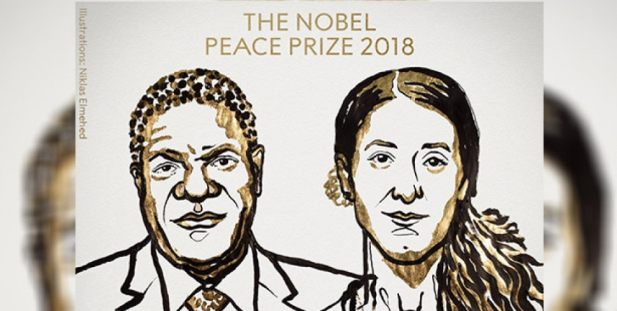 Xelata Aştiyê ya Nobelê dane Nadîa Murad û Denîs Mukwege
