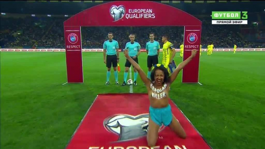 """Di maça Ukrayna û Tirkyeyê de FEMEN'ê çalakiya """"Erdoganê Kujer"""" kir"""